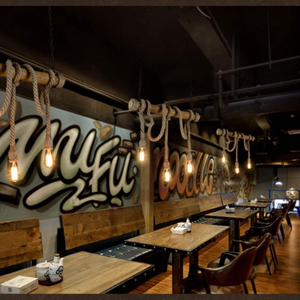 lustre MEILING Retro Industriel Vent Restaurant Lampe Billard Table Bar Creative 3