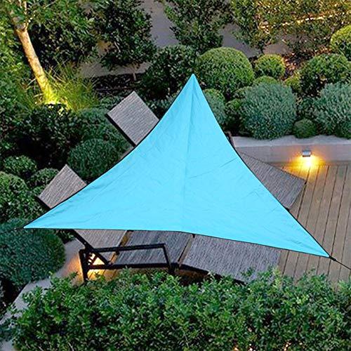 Verano pesada sombra Sun de la vela del pabellón, 3 * 3 * 3 m (118 * 118 * 118in) Trilateral cubierta al aire libre, yarda del jardín de toldos, impermeable del coche de la sombrilla de tela,Azul