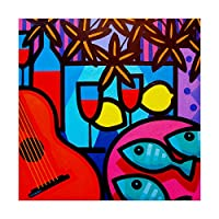 商標ファインアートジョン・ノーラン静物ギター14 x 14、多色