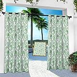 Aishare Store - Cortina de exterior para patio, impermeable, alcachofa, vegetales, 100 x 213 cm, aislamiento térmico para oscurecimiento de habitación cortinas verticales para porche delantero y lienzo (1 panel)