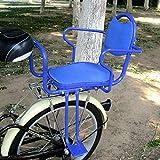 SZPDD Bicicletta elettrica Bicicletta Posteriore Seggiolino per Bambini Mountain Bike Bicicletta Bambino seggiolino di Sicurezza per Bambini con barriera,Blue
