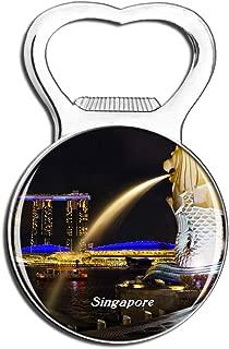 Weekino Singapore Merlion Fridge Magnet Bottle Opener Beer City Travel Souvenir Collection Strong Refrigerator Sticker