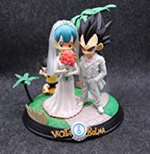 JHJUH Anime Sculpture Anime Dragon Ball Z Vegeta and Bulma Wedding Model Toys