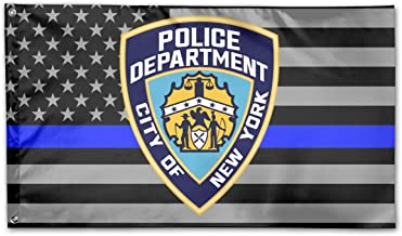 New York City Police Department Yard Flags 3 X 5 in Indoor&Outdoor Decorative Home Fall Flags Holiday Decor