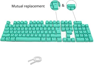 Bossi 104 PBT Replacement Keycaps Double-shot Backlit Keycaps Set for Mechanical Keyboard with Key Puller - Cyan