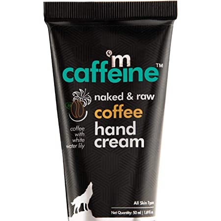 mCaffeine Naked & Raw Coffee Hand Cream | Mattifying | Almond Oil, Shea Butter | All Skin Types | Paraben & Silicone Free | 50 ml