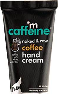 mCaffeine Naked & Raw Coffee Hand Cream | Mattifying | Almond Oil, Shea Butter | All Skin Types | Paraben & Silicone Free...