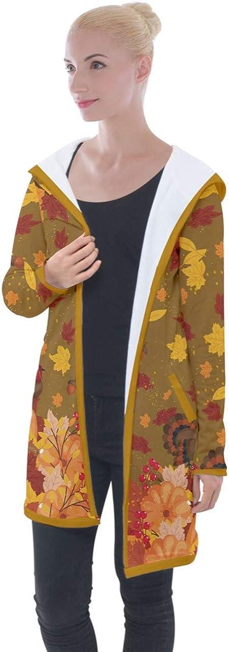 PattyCandy Women's Longline Sweaters Turkey Autumn Fall Galaxy Space Hooded Pocket Cardigan Jacket