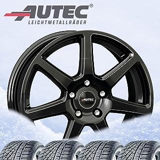 4 Winter complete wielen Tallin 6,5x16 ET 38 5x112 zwart met 205/60 R16 96H Continental WinterContact TS 860 S XL * M+S 3PMSF
