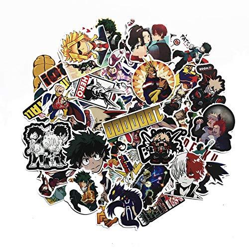 KEJIA My Hero Academia Maleta de Dibujos Animados Trolley Maleta Maleta Pegatinas Pegatinas de Graffiti 73 Hojas
