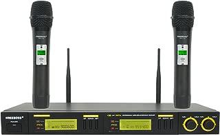 Freeboss FB-U12 UHF Wireless Microphone System Dual Channel IR 2x100 Frequency Wireless Microphone