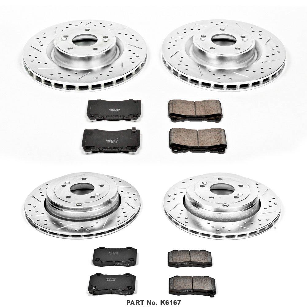 Power Stop K367 Rear Brake Kit with Drilled//Slotted Brake Rotors and Z23 Evolution Ceramic Brake Pads