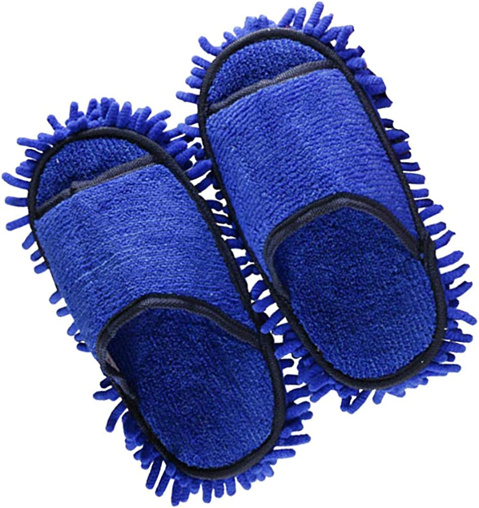 Holibanna 1 par de Zapatillas de Limpieza para El Suelo Zapatillas para El Hogar Zapatillas de Vestir Azul Oscuro