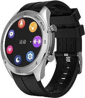 "hwbq Smart Horloge 1.3 ""Ronde Kleur Scherm Dynamische Ip68 Waterdichte Informatie Herinnering Sport Armband Mode/Zwart-Zilver"