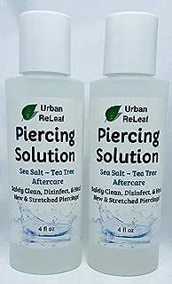 Urban ReLeaf Piercing Solution 8 اونس! بعد از درمان گیاهان نمکی و گیاه شناسی. با خیال راحت تمیز کنید ، پیرسینگ های جدید و کشیده را درمان کنید. نرم و مؤثر ~ 100٪ طبیعی. بدون ید. گیاهان غنی ویتامین!
