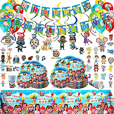 144pcs Cocomelon Birthday Party Supplies for 20...