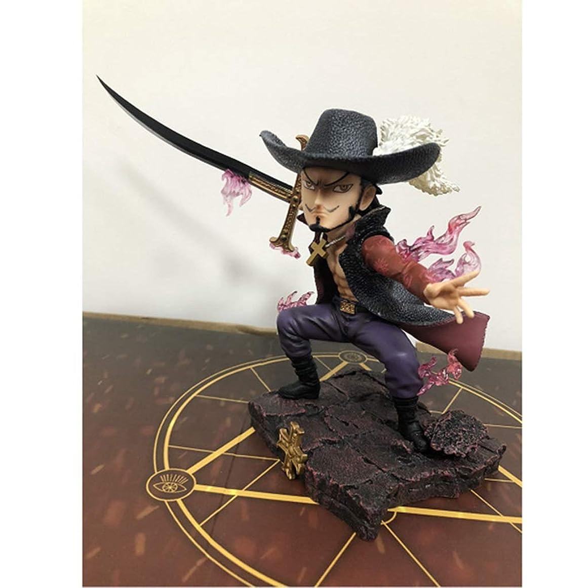 学士倉庫差し引くアニメワンピースモデル、GKホークアイ、子供用おもちゃコレクション像、卓上装飾玩具像玩具モデルPVC(17cm) SHWSM