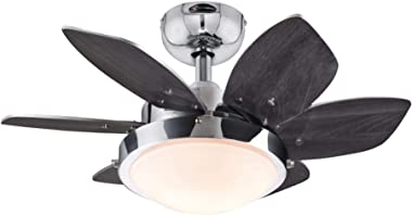 Westinghouse Lighting 7236600 Quince Indoor Ceiling Fan with Light, 24 Inch, Chrome