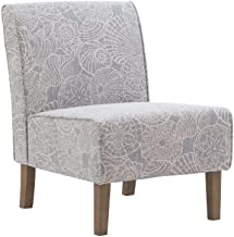 Linon Stone Grey Slipper Lily Chair