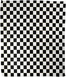 Golee Throw Blanket Chequered Checkered Flag Racing White Race Auto Black Car Check 60x80 Inches Warm Fuzzy Soft Blanket for Bed Sofa