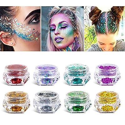 Purpurina cosmética de maquillaje