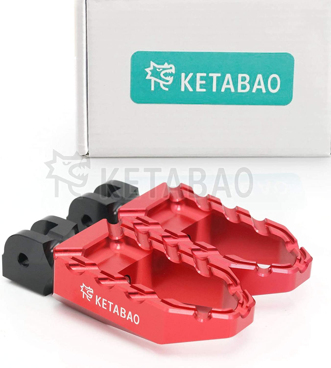 KETABAO Los Angeles Mall Red CNC Regular dealer Wide PlatCompatible withm BUZZ Front Foot Pegs C