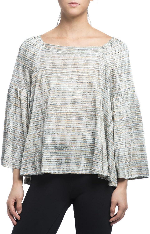 Nally & Millie Women's Textured Funnel Sleeve Top