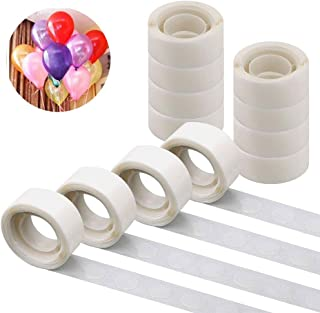 FOGAWA 1200pcs Balloon Glue Point Dots Clear Removable Glue Dots Double Sided Adhesive Sticky Tape for Balloons Decoration Party Wedding DIY Craft 12 Rolls