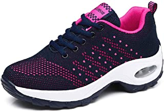 PADGENE Chaussures de Course à Coussin, Femme Chaussures de Course de Voyage Décontracté, Baskets Course Gym Fitness, Chau...