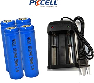 3.7V 10440 AAA Lithium Ion Rechargeable Battery 4pc+ Charger