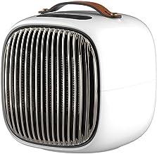 FWKTG Calefactor Portátil Eléctrico, Mini Calefactor Eléctrico, Termoventilador Calefactor Portatil, Calefactor Cerámico Aire Caliente y Natural Apto for Hogar y Oficina (Color : White)