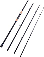 Fiblink 4-Piece Surf Spinning Fishing Rod Portable Carbon Fiber Travel Fishing..