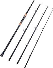 Fiblink 4-Piece Surf Casting Fishing Rod Carbon Fiber Portable Travel Fishing Rod(10-Feet & 12-Feet)