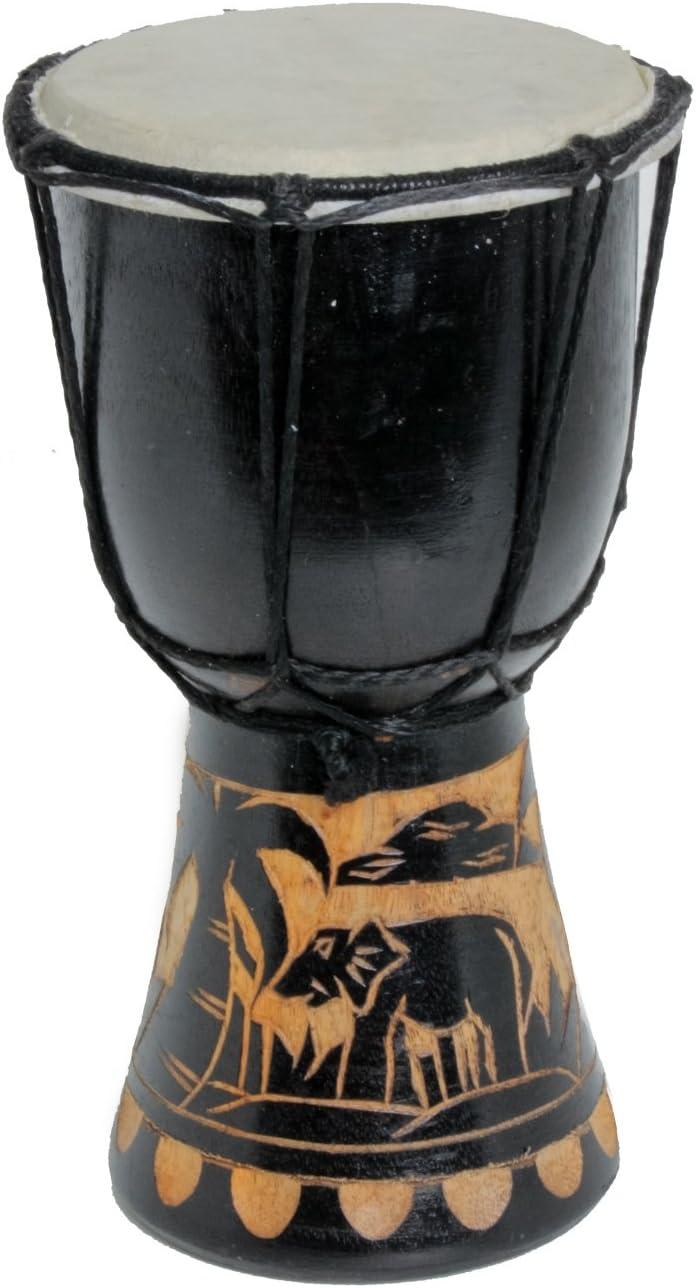 Tamburo Djembe 30 cm Bongo Elefante Nero A1
