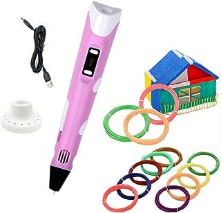 Stylo d'Impression 3D+12 Multicolores Filament PLA, température/vitesse réglable, Loisirs créatifs en Famille, pour Enfant...
