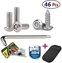 locking license plate screws