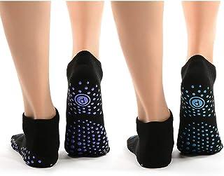 QAWS Calcetines-Yoga Pilates Calcetín Calcetines Accesorios Ballet Danza Unisex Calcetín Yoga Thickened Indoor Adult Floor Socks Women Silicone Anti-Slip Dance Socks 2 Pairs