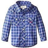 Diesel Baby Boys ' Corenob Long Sleeve Yarn Dyedチェックボタンフロント カラー: ブルー