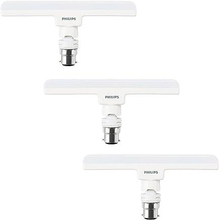 Philips T-Bulb Base B22 10-Watt LED Lamp (Pack of 3, Cool Day Light)