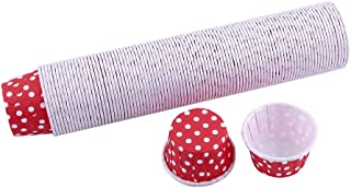 Fdit 100pcs Paper Cake Cupcake Liner Case Wrapper Muffin Baking Cup for Party Wedding Xmas 7 Colors(Red)