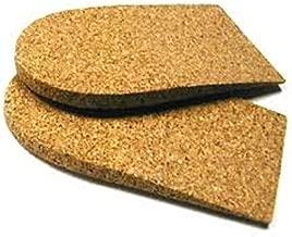 Heel Lift Cushion, 1/4 inch (6 mm) Cork, 1 Pair, Medium (2 1/2