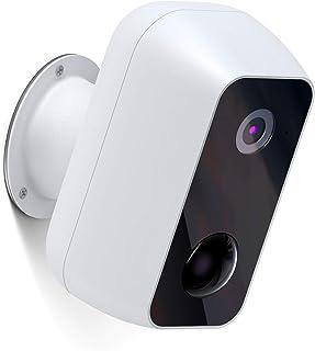 Ltteny Cámara de Vigilancia WiFi Exterior con Batería Recargable 12000mAh, 1080P Cámara IP con Impermeable PIR Detección d...