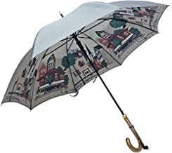 NOBEL(ノーベル) レディース 雨傘 長傘 日本製 ジャンプ 親骨60cm 甲州産裏ほぐし織り 街角柄 軽量日本製ジャンプ式雨傘 女性