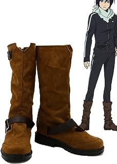 Noragami ARAGOTO Yato Cosplay Shoes Boots Custom Made Suede