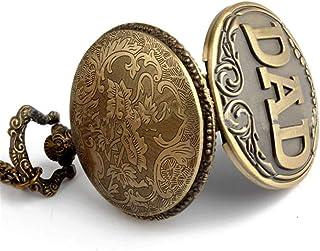 ساعة جيب للرجال بتصميم كلاسيكي كلاسيكي كلاسيكي من البرونز