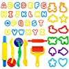Deardeer 44 Pieces Play Dough Tools Set with Moulds and Models Art Dough Play Set for Children Kids