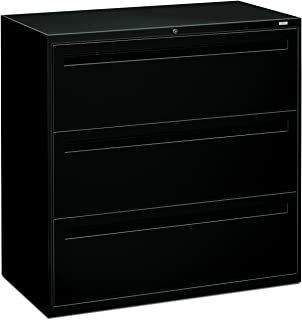 HON 793LP 700 Series 42 by 19-1/4-Inch 3-Drawer Lateral File, Black