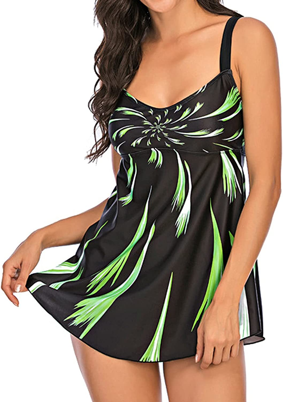 2 Pieces Swimsuits for Womens High Waisted Oversized Vintage Bikini Set Tankini