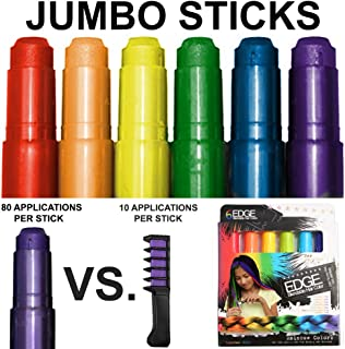 Kids Hair Chalk – JUMBO HAIR CHALK PENS – RAINBOW – Washable Hair Color..
