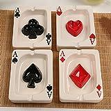 Toto Set di 4 Posacenere in Ceramica Semplice Creativa personalità Moderna Mini...